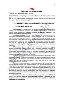 APOSTILA DE PSICOPATOLOGIA GERAL I
