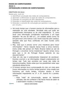 REDES DE COMPUTADORES aula