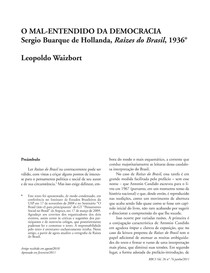 Sergio Buarque De Holanda Raizes Do Brasil Pdf