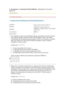 Matemática Financeira   Prova 2   Flex   Gabarito
