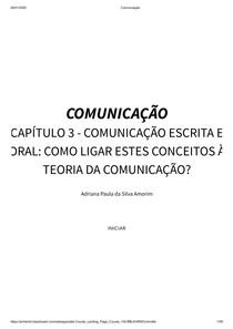 Minha Disciplina - comunicaçao - unidade 3