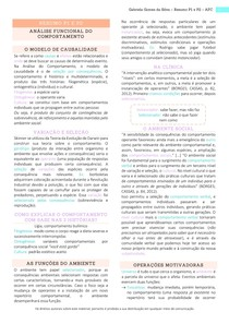 Resumo NP1 e NP2 - Análise Funcional do Comportamento