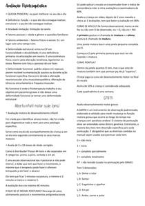 AVALIAÇÃO FISIOTERAPEUTICA - Pediatria