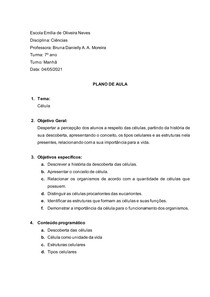Modelo Plano de aula