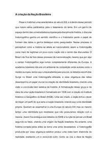 A criação da Nação Brasileira