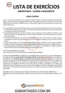 EXERCÍCIOS RESOLVIDOS BRASIL COLÔNIA - 04