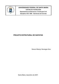 Projeto Estrutural de Sapatas (UNIVERSIDADE FEDERAL DE SANTA MARIA)