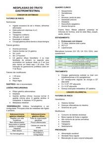 NEOPLASIAS DO TRATO GASTROINTESTINAL (TGI)