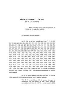 PL 276-2007 - antigo PL 6.960-2002