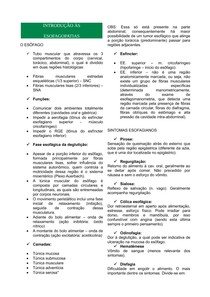 ESOFAGOPATIAS - INTRODUÇÃO E TIPOS (GASTROENTEROLOGIA)