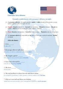 Testando o conhecimento sobre PRONOMES REFLEXIVOS em inglês - #EXCLUSIVOPD