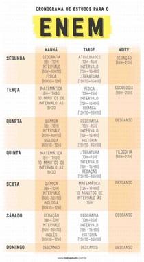 SUGESTÃO DE CRONOGRAMA