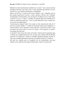Resenha: COTRIM, G Hegel e Comte: a filosofia no século XIX