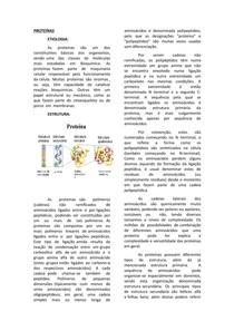 Aminoácidos e Proteínas - bioquímica
