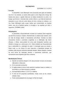 PIELONEFRITE - Etiopatogenia, Manifestações clinicas, diagnostico clinico e laboratorial