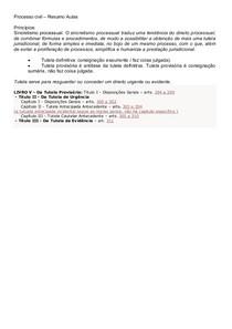 RESUMO TUTELAS - PROCESSO CIVIL - COM MAPAS MENTAIS