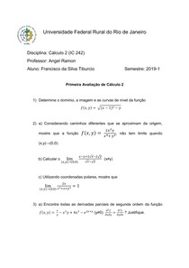 IC 242 - Prova 01 - 2019-1 - Professor Angel