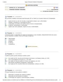 Auditoria Contabil - Questoes aulas 1 a 10
