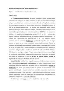 Resolução casos práticos de Direito Administrativo I
