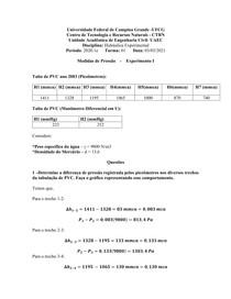 EXPERIMENTO1- HIDRÁULICA EXPERIMENTAL