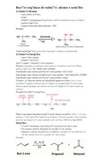 Reações orgânicas de oxidação: alcenos e ozonólise