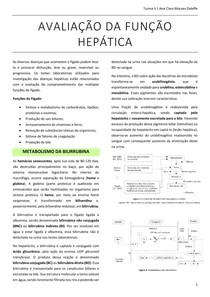 AVALIAÇÃO DA FUNÇÃO HEPÁTICA