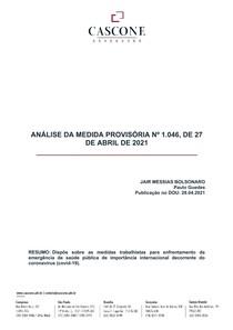 Análise MP 1.046 de 27 de abril de 2021 - Cascone Advogados