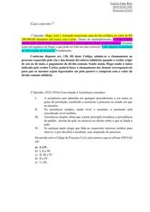 Caso concreto semana 7 -  direito processual civil I