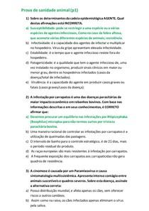 Prova de sanidade animal (P1)