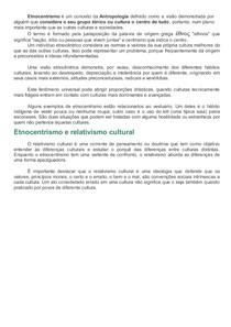 Etnocentrismo- cultura, ética e moral