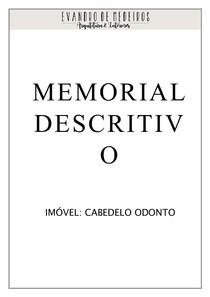 Modelo Memorial Descritivo Completo Projeto Arquitetônico I