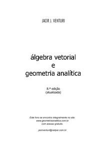 Cálculo Vetorial e Geometria Analitica