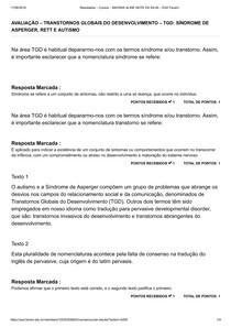 9 AVALIAÇÃO TRANSTORNOS GLOBAIS DO DESENVOLVIMENTO TGD