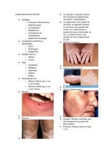 Lesões elementares da pele