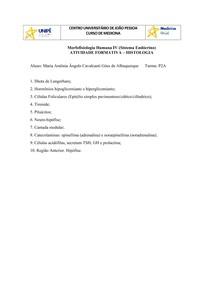 Atividade Formativa - Histologia Endócrino