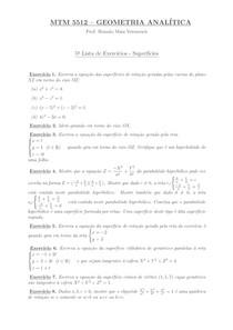 Lista 5 de Geometria Analítica