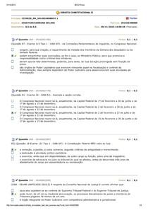 AVALIANDO APRENDIZADO DIREITO CONSTITUCIONAL II