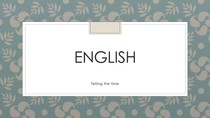 english- Telling the time
