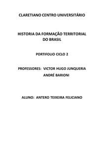 HISTORIA DA FORMAÇÃO TERRITORIAL