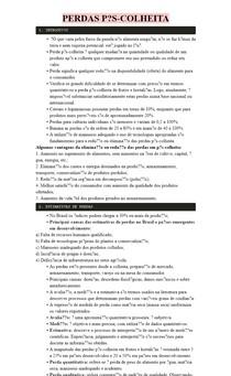 PERDAS PÓS-COLHEITA