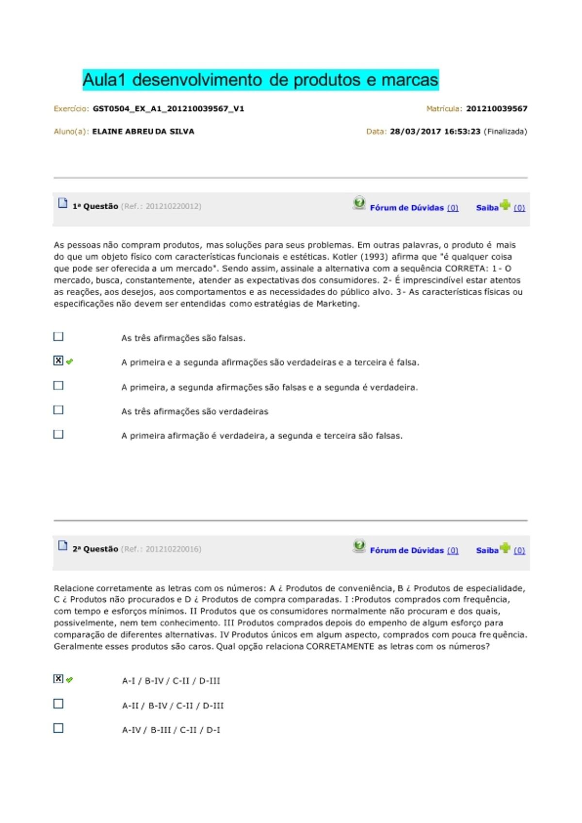 Pre-visualização do material desenvolvimento de produtos e marcas - página 1