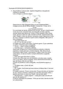 Avaliação ESTUDOS DISCIPLINARES IV