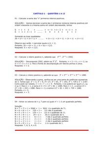 Resoluções de Exercícios - Teoria Elementar dos Números - Edgard Alencar - Capítulo 1