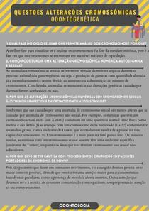 ALTERAÇÕES CROMOSSÔMICAS - Odontogenética