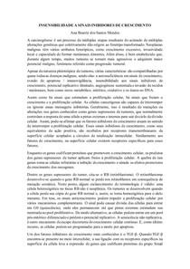 INSENSIBILIDADE A SINAIS INIBIDORES DE CRESCIMENTO