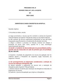 PROCESSO CIVIL III - AV1, AV2 e AV3 by West Gave