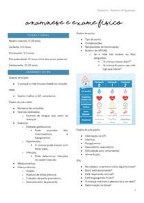 Pediatria - Anamnese pediatrica