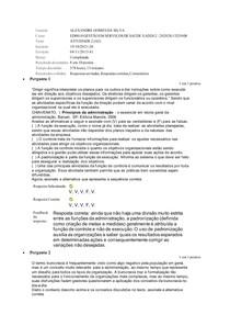 Atividade 2 - Gestão em Serviços de Saúde - IBMR