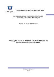 PRODUÇÃO TEXTUAL INTERDISCIPLINAR: ESTUDO DE CASO DA EMPRESA BLUE JEANS