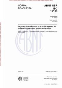 NBRISO12100   Segurança de máquinas Princípios gerais de projeto Apr. e redução de riscos